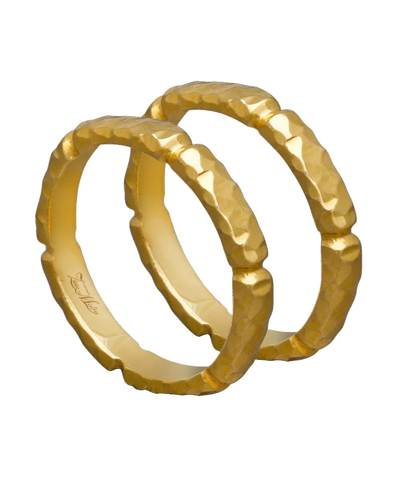 Βέρα χειροποίητη K14 χρυσή XV00443   γαμοσ βέρες γάμου   αρραβώνα βέρες χρυσές