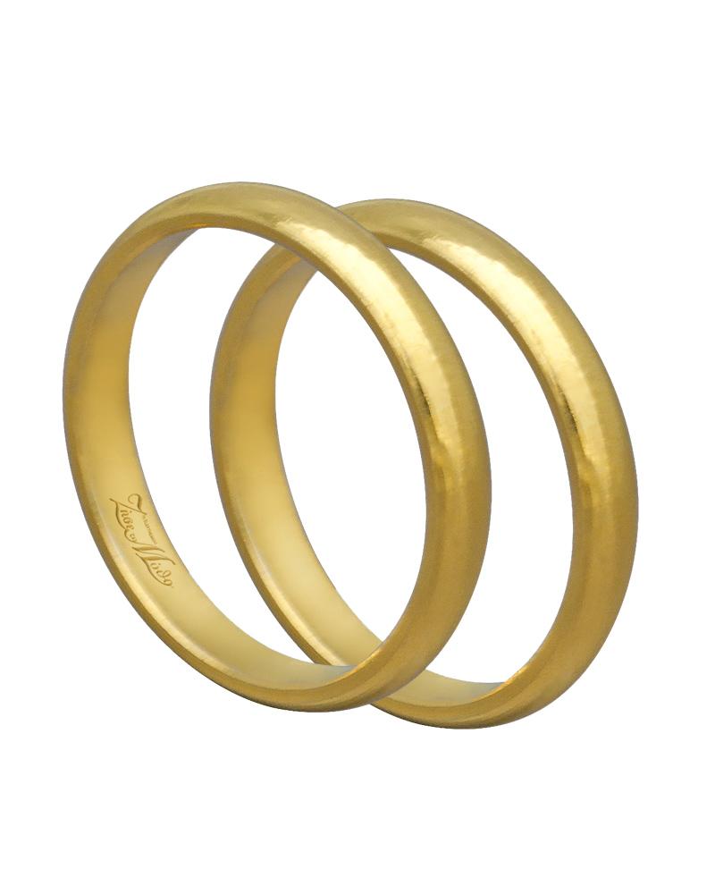 Βέρα χειροποίητη K14 χρυσή XV00464   γαμοσ βέρες γάμου   αρραβώνα βέρες χρυσές