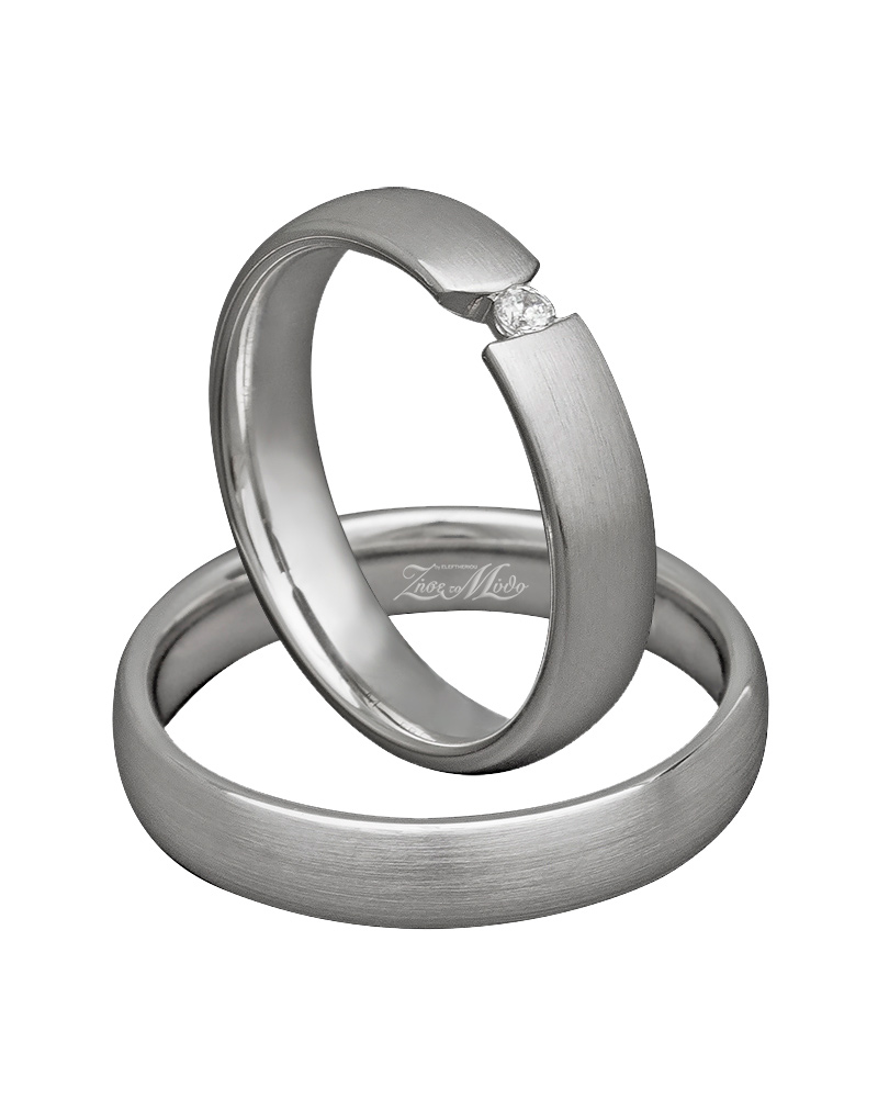Βέρες χειροποίητες K14 λευκόχρυσες XV00474   γαμοσ βέρες γάμου   αρραβώνα βέρες λευκόχρυσες