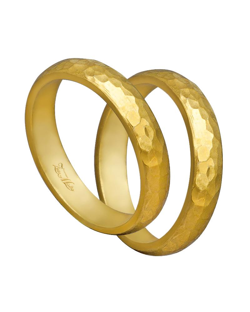 Βέρα χειροποίητη K14 σε χρυσό XV00444   γαμοσ βέρες γάμου   αρραβώνα βέρες χρυσές