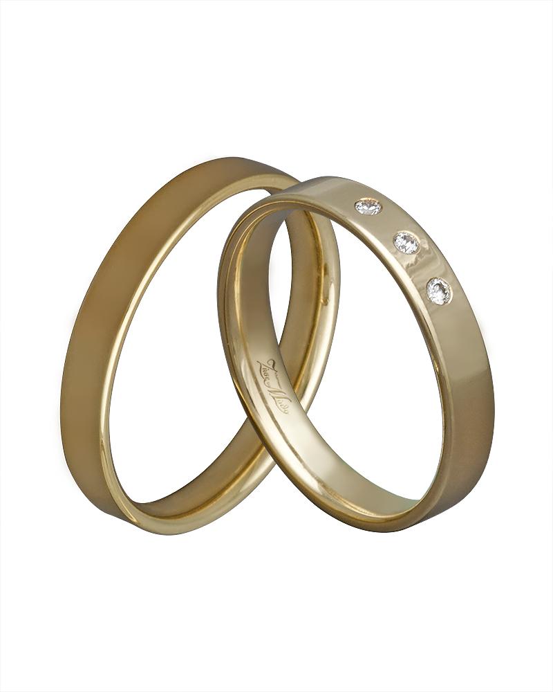 Βέρα χειροποίητη K14 σε χρυσό με διαμάντια XV00416   ζησε το μυθο βέρες γάμου   αρραβώνα βέρες χρυσές