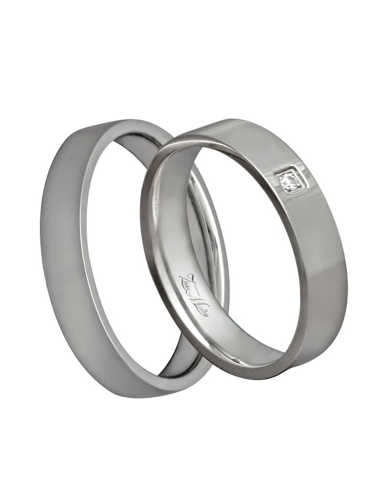 Βέρα χειροποίητη K14 σε λευκόχρυσο με διαμάντι XV00365   γαμοσ βέρες γάμου   αρραβώνα βέρες λευκόχρυσες