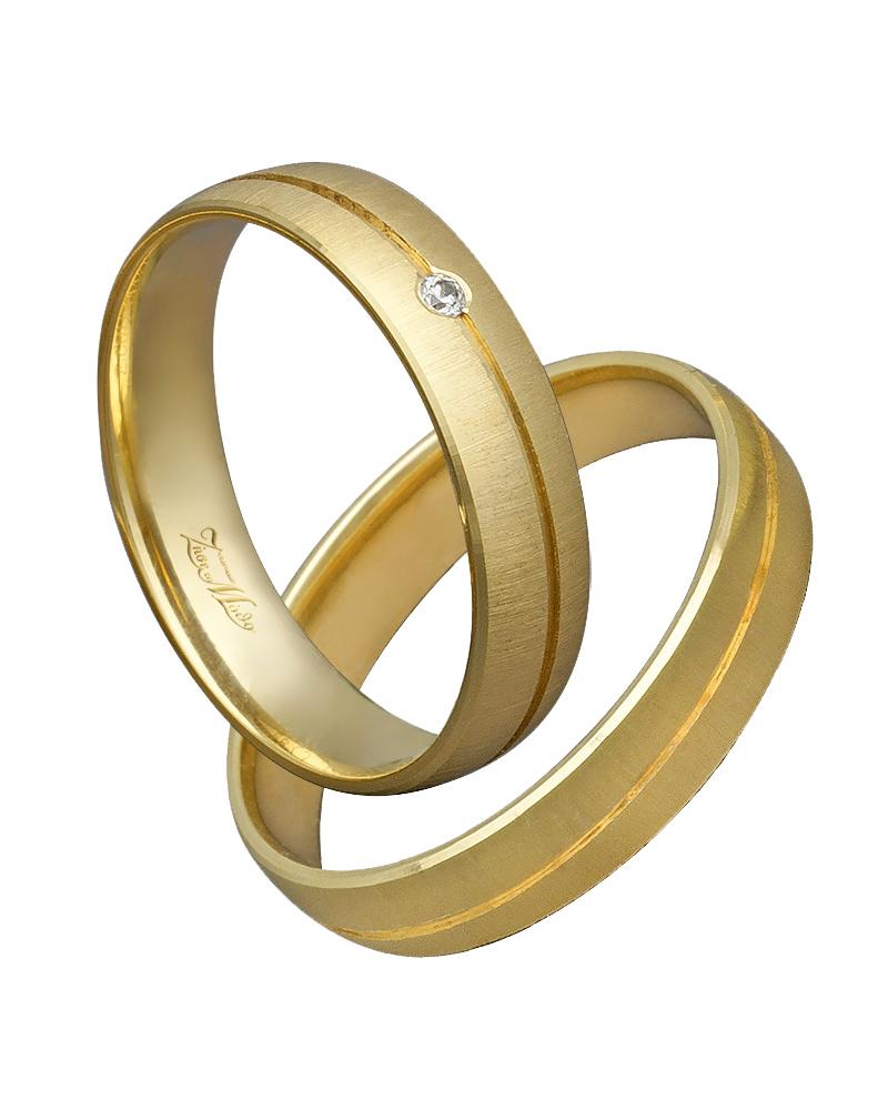 Βέρα χειροποίητη K14 σε χρυσό με διαμάντι XV00361   γαμοσ βέρες γάμου   αρραβώνα βέρες χρυσές