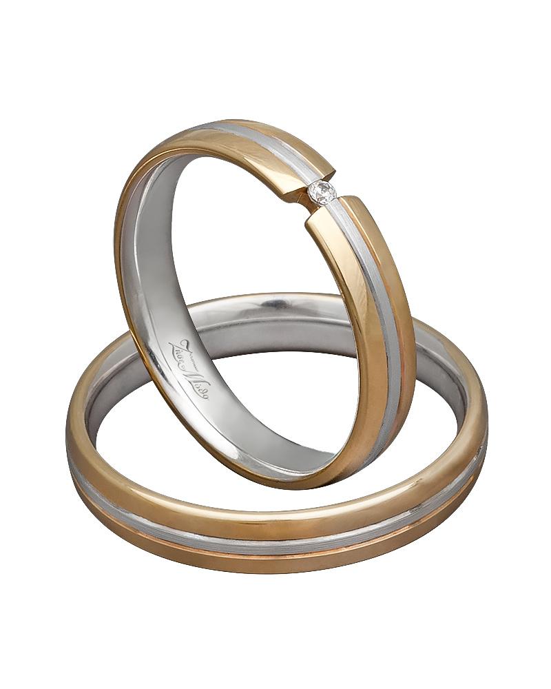 Βέρες χειροποίητες K14 δίχρωμες XV00387   ζησε το μυθο βέρες γάμου   αρραβώνα βέρες δίχρωμες