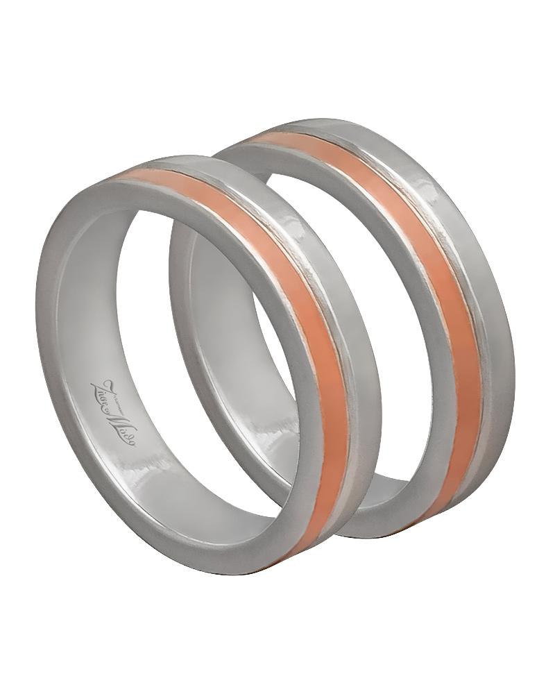 Βέρα χειροποίητη K14 δίχρωμη XV00433   γαμοσ βέρες γάμου   αρραβώνα βέρες δίχρωμες