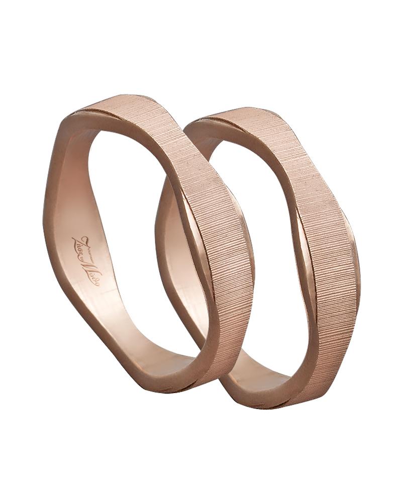 Βέρα χειροποίητη K14 σε ροζ χρυσό XV00614   ζησε το μυθο βέρες γάμου   αρραβώνα βέρες ροζ χρυσές