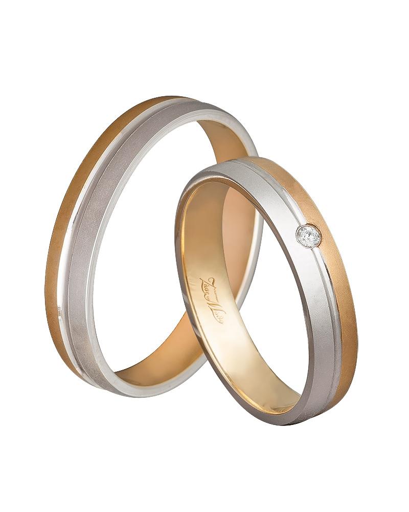 Βέρα χειροποίητη K14 δίχρωμη XV00529   γαμοσ βέρες γάμου   αρραβώνα βέρες δίχρωμες