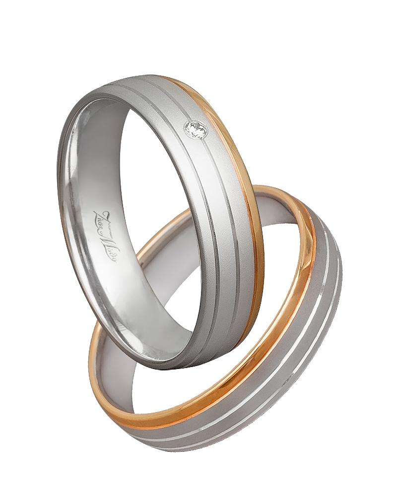 Βέρα χειροποίητη K14 δίχρωμη XV00537   γαμοσ βέρες γάμου   αρραβώνα βέρες δίχρωμες