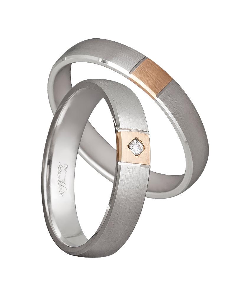 Χειροποίητη βέρα δίχρωμη σε Κ14 XV00514   γαμοσ βέρες γάμου   αρραβώνα βέρες δίχρωμες