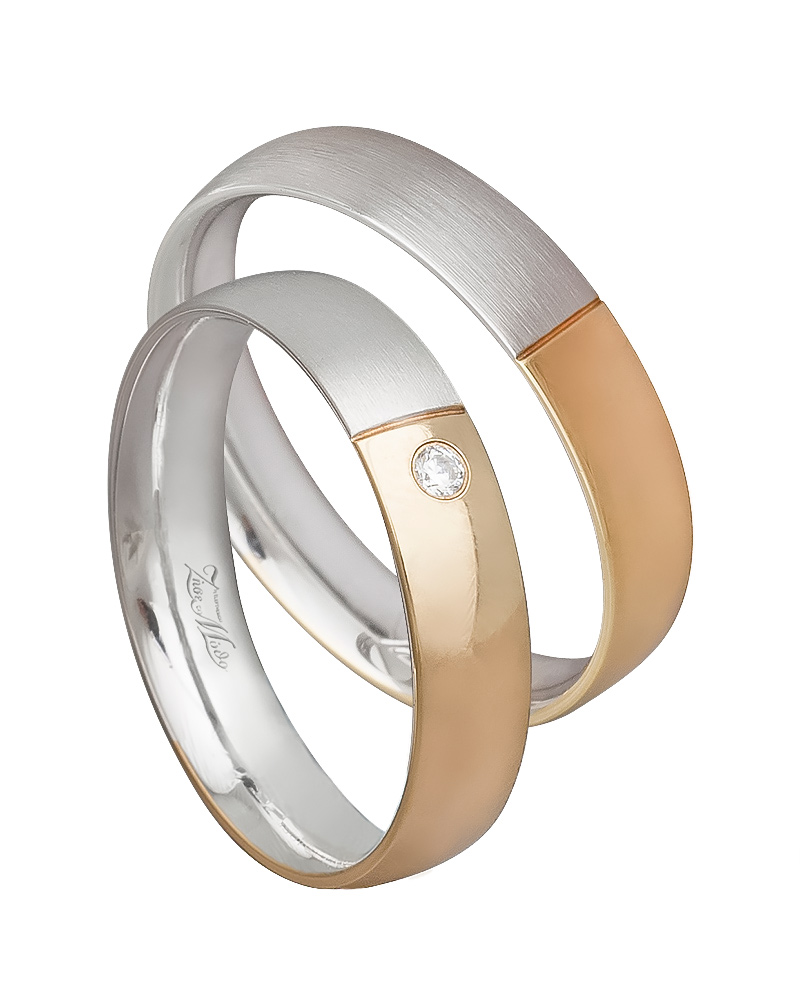 Βέρα χειροποίητη K14 δίχρωμη XV00532   γαμοσ βέρες γάμου   αρραβώνα βέρες δίχρωμες