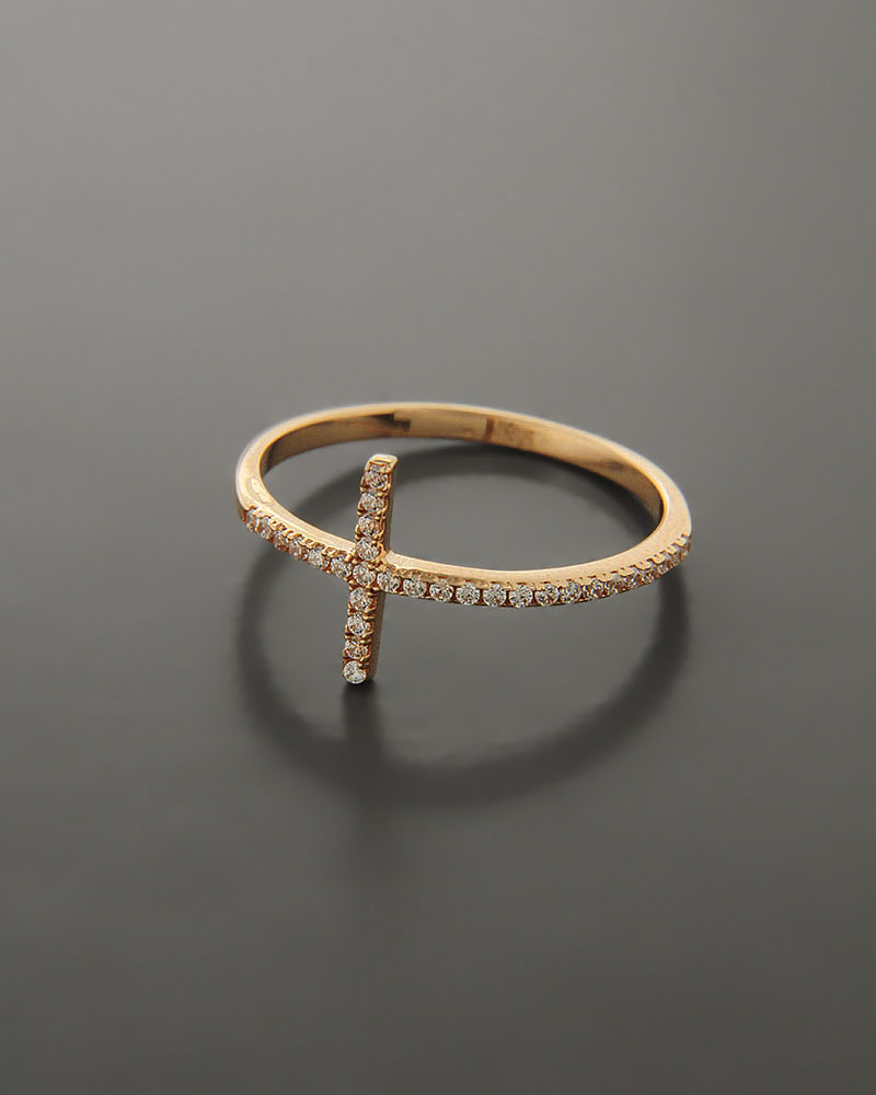 Δαχτυλίδι ροζ χρυσό Κ14 με Ζιργκόν   γυναικα δαχτυλίδια δαχτυλίδια χρυσά
