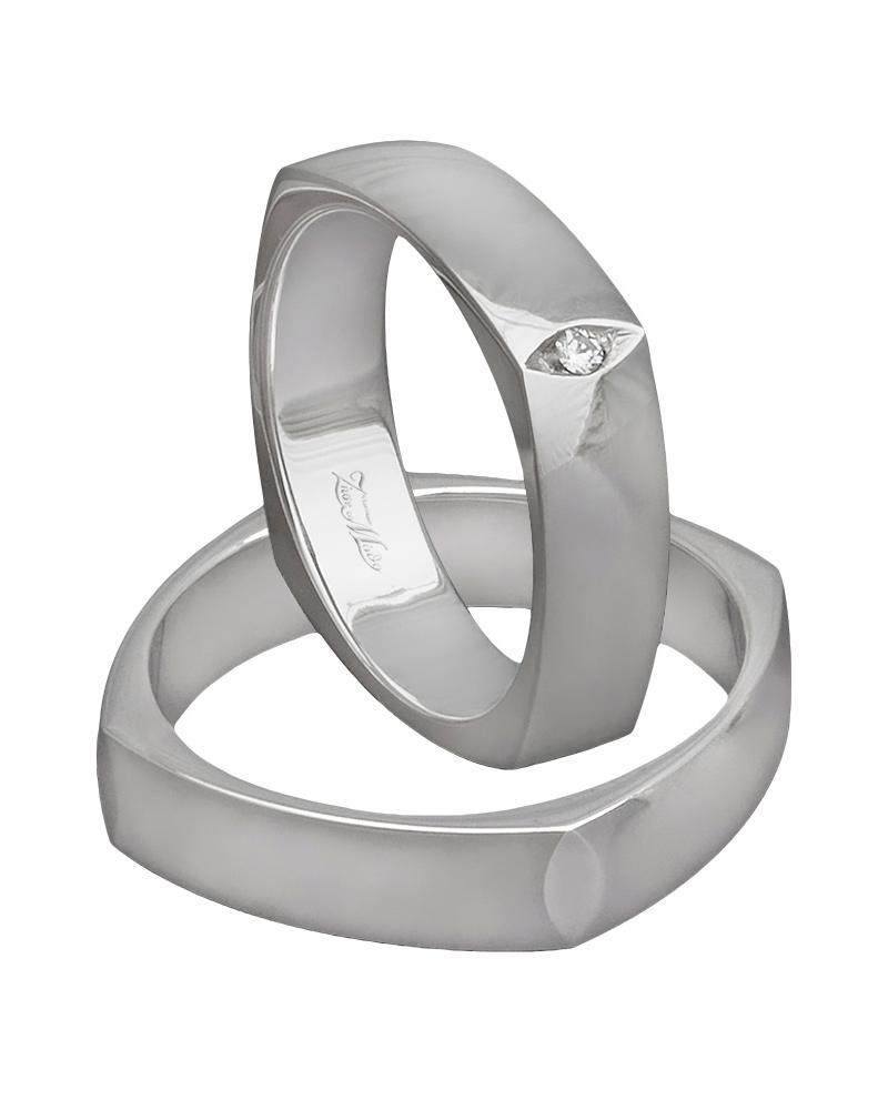 Βέρα χειροποίητη K14 σε λευκόχρυσο XV00649   ζησε το μυθο βέρες γάμου   αρραβώνα βέρες λευκόχρυσες