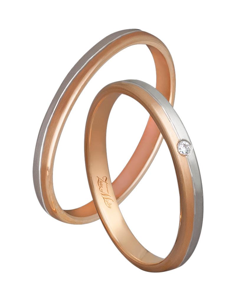 Βέρα χειροποίητη K14 δίχρωμη XV00494   γαμοσ βέρες γάμου   αρραβώνα βέρες δίχρωμες