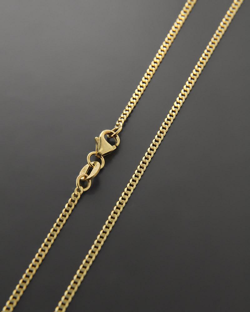 Αλυσίδα λαιμού χρυσή Κ9 60cm   κοσμηματα αλυσίδες λαιμού αλυσίδες χρυσές