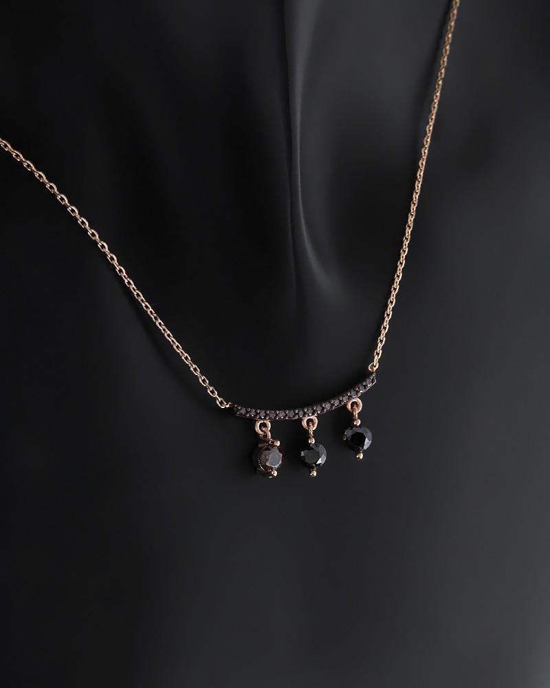 Εικόνα του προϊόντος Κολιέ fashion ροζ χρυσό Κ14 με Ζιργκόν
