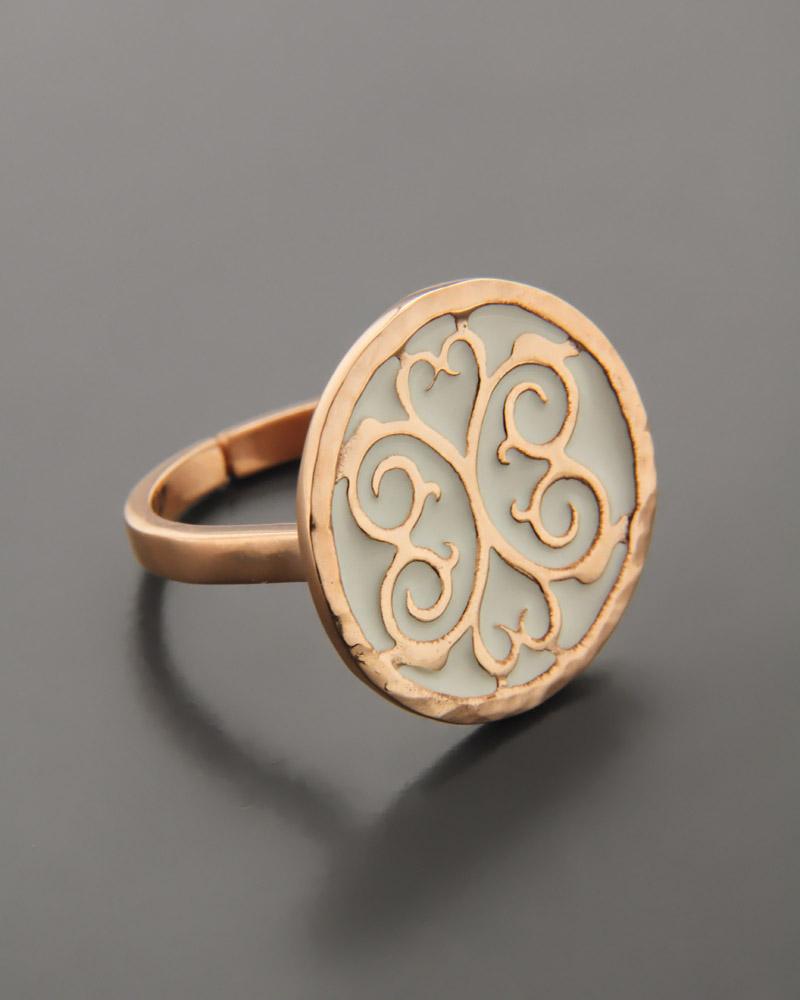 Fashion Δαχτυλίδι ασημένιο με Σμάλτο   γυναικα δαχτυλίδια δαχτυλίδια ασημένια