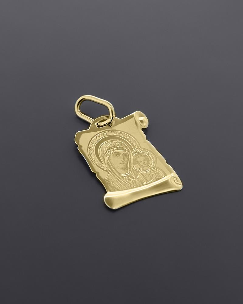 Φυλαχτό Παναγία χρυσό Κ9   κοσμηματα κρεμαστά κολιέ κρεμαστά κολιέ χρυσά