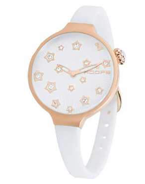 Ρολόι HOOPS Icon Flowers Rose Gold White 2562LS02