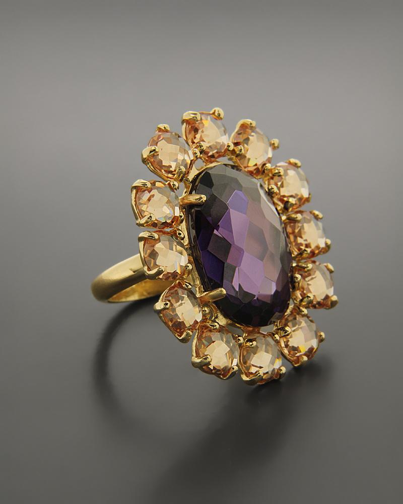 Δαχτυλίδι Ασημένιο με Ημιπολύτιμους Λίθους   κοσμηματα δαχτυλίδια δαχτυλίδια ημιπολύτιμοι λίθοι