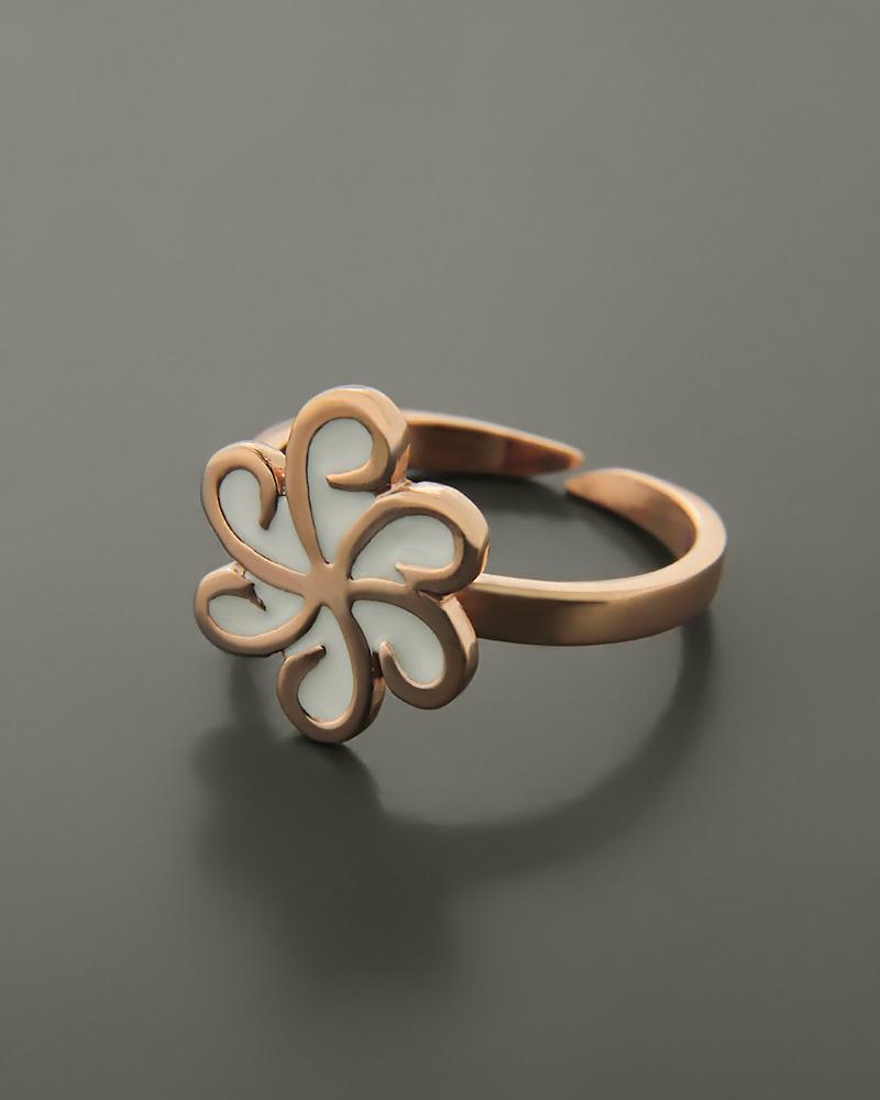 Δαχτυλίδι fashion ασημένιο με σμάλτο   γυναικα δαχτυλίδια δαχτυλίδια ασημένια
