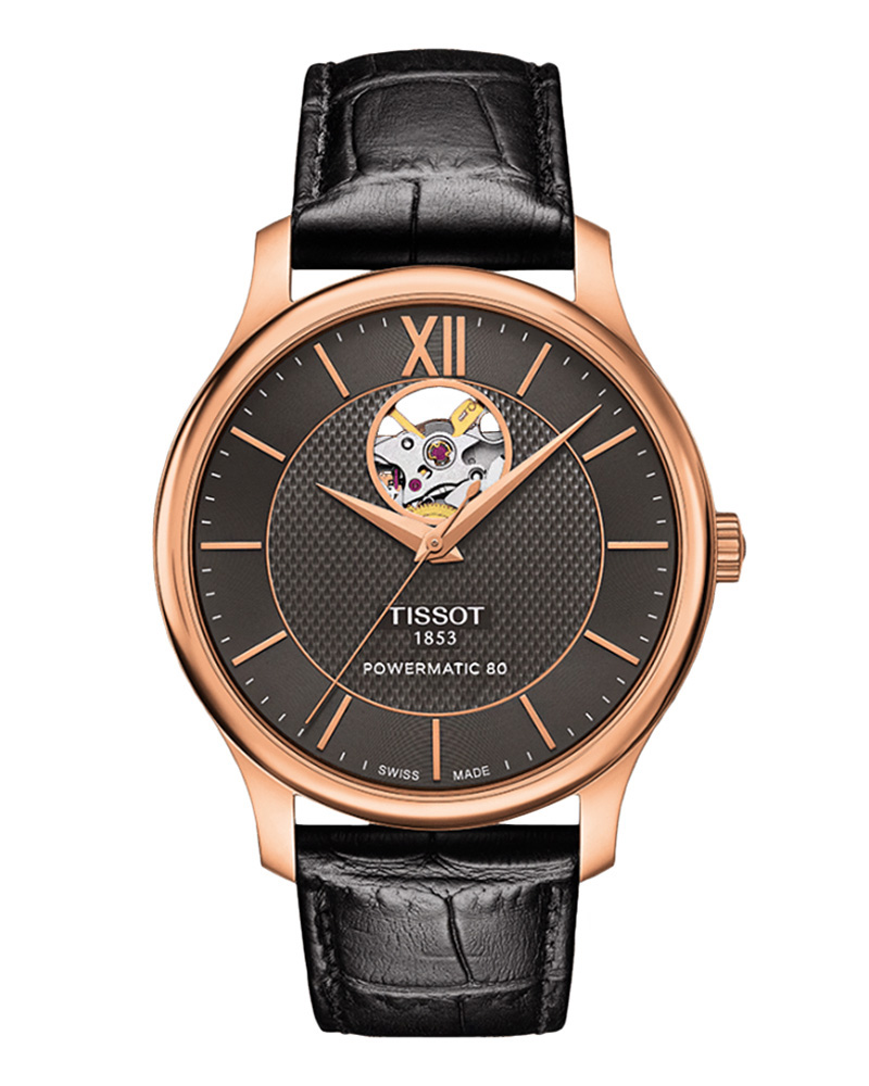 TISSOT TRADITION AUTOMATIC OPEN HEART T0639073606800   brands tissot classic