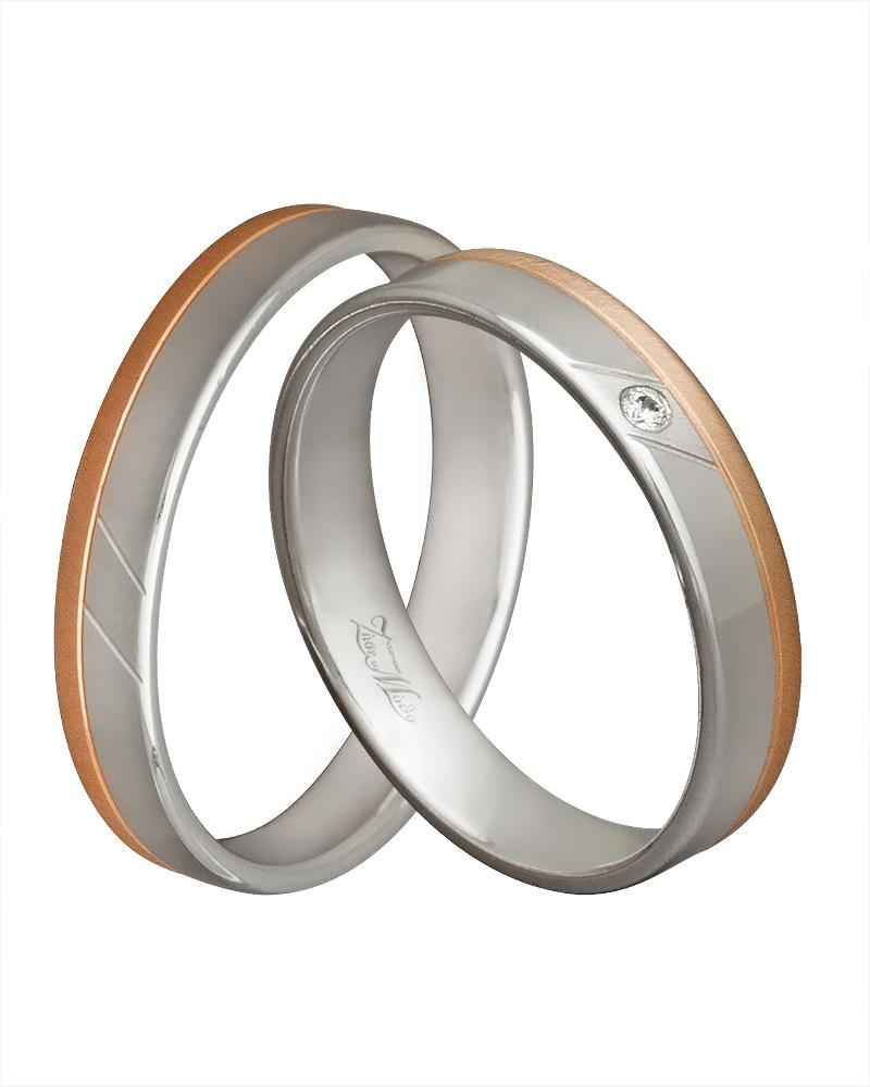 Χειροποίητη βέρα δίχρωμη στα 14κ XV00323   γαμοσ βέρες γάμου   αρραβώνα βέρες δίχρωμες