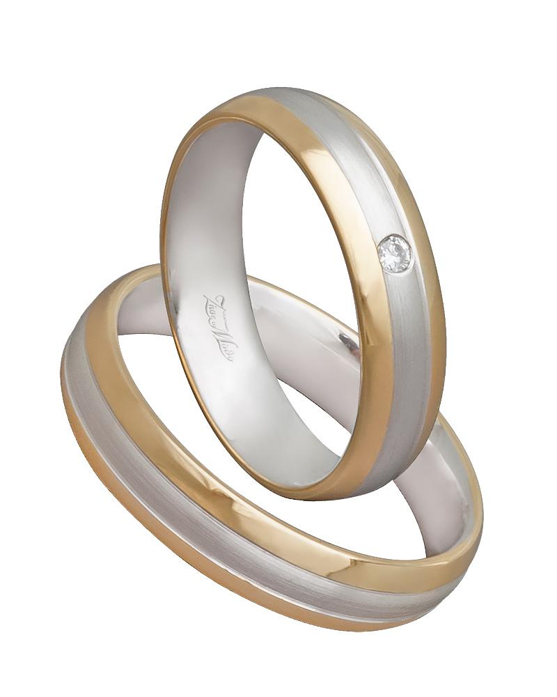 Χειροποίητη βέρα δίχρωμη στα 14κ XV00567   γαμοσ βέρες γάμου   αρραβώνα βέρες δίχρωμες