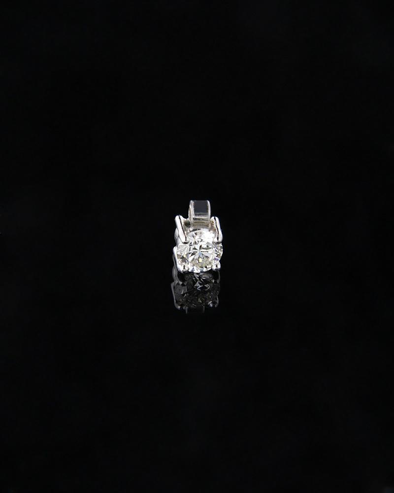 Κρεμαστό λευκόχρυσο Κ18 με Διαμάντι   γυναικα κρεμαστά κολιέ κρεμαστά κολιέ λευκόχρυσα