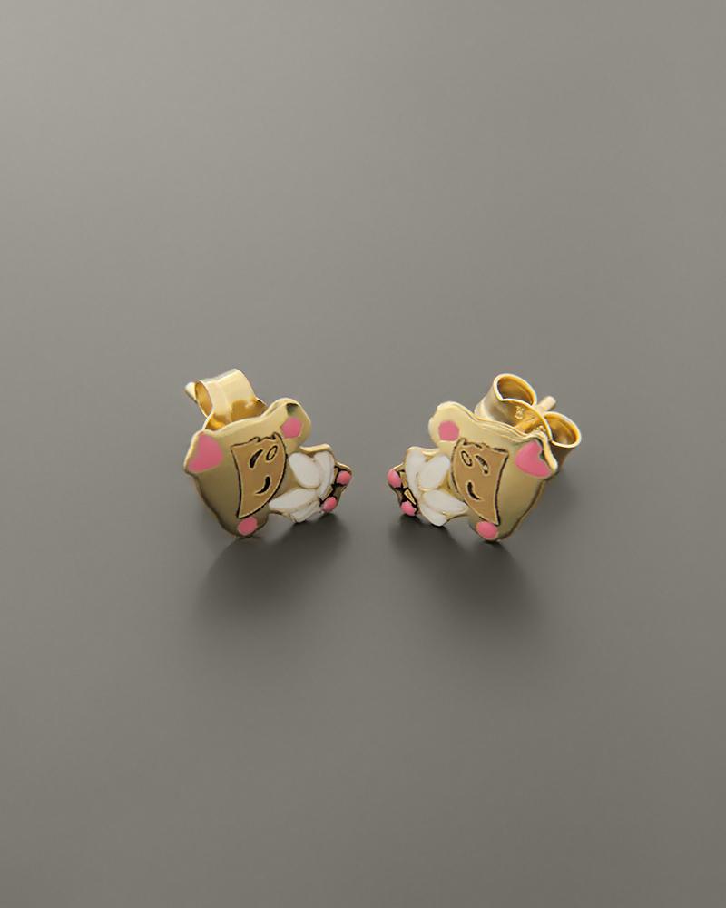 Παιδικά σκουλαρίκια κοριτσάκια χρυσά Κ9   παιδι σκουλαρίκια παιδικά