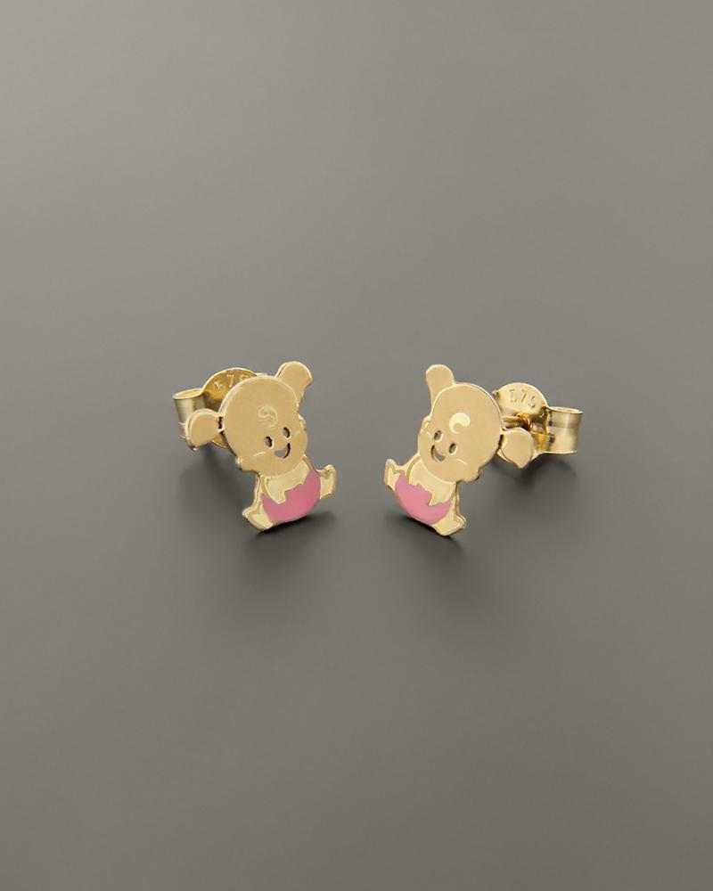 Παιδικά σκουλαρίκια μωράκια χρυσά Κ9   παιδι σκουλαρίκια παιδικά