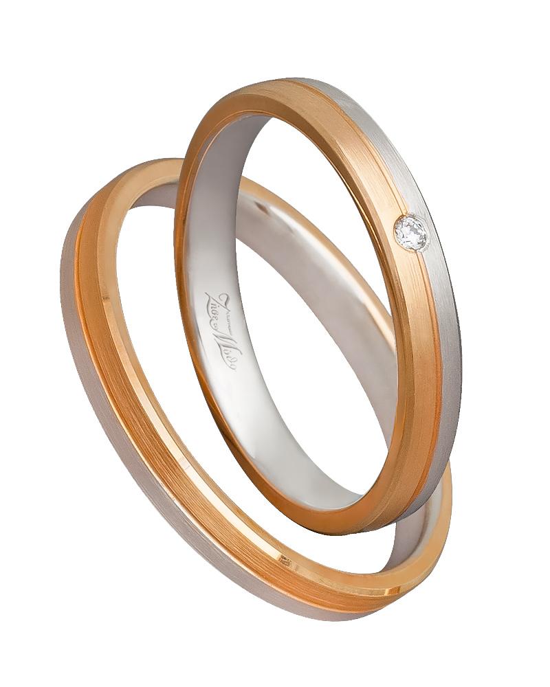 Χειροποίητη βέρα δίχρωμη 14κ XV00542   γαμοσ βέρες γάμου   αρραβώνα βέρες δίχρωμες