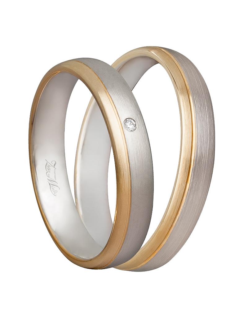 Χειροποίητη βέρα δίχρωμη 14κ XV00539   γαμοσ βέρες γάμου   αρραβώνα βέρες δίχρωμες