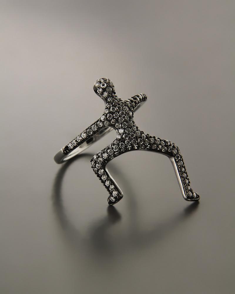 Δαχτυλίδι ασημένιο με Zιργκόν   γυναικα δαχτυλίδια δαχτυλίδια fashion