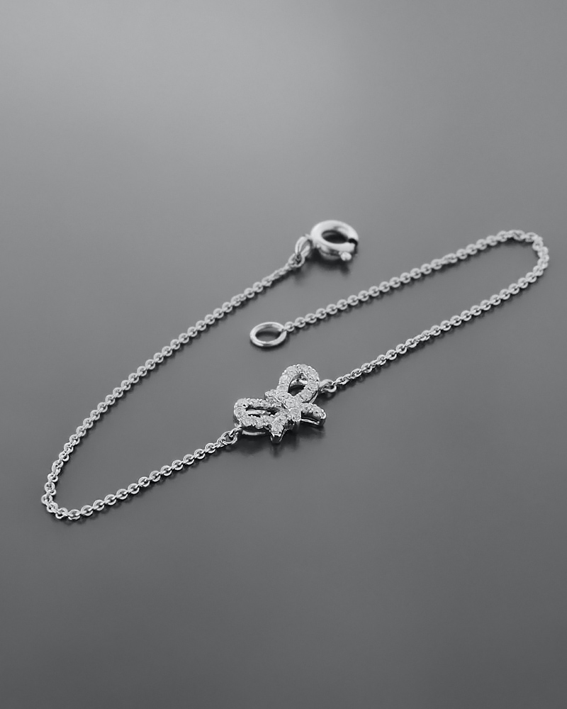 Βραχιόλι λευκόχρυσο Κ18 με Διαμάντια   γυναικα βραχιόλια βραχιόλια λευκόχρυσα