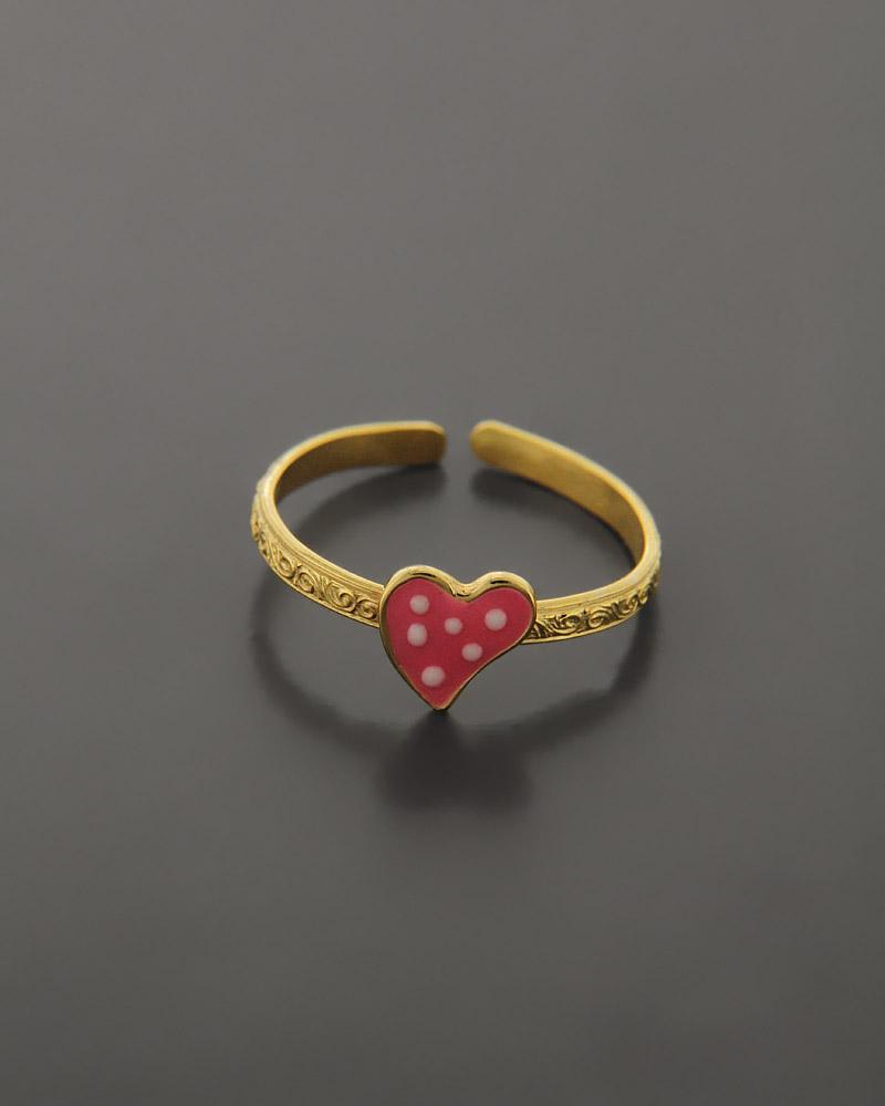 Παιδικό δαχτυλίδι χρυσό Κ14 με Σμάλτο   παιδι δαχτυλίδια παιδικά
