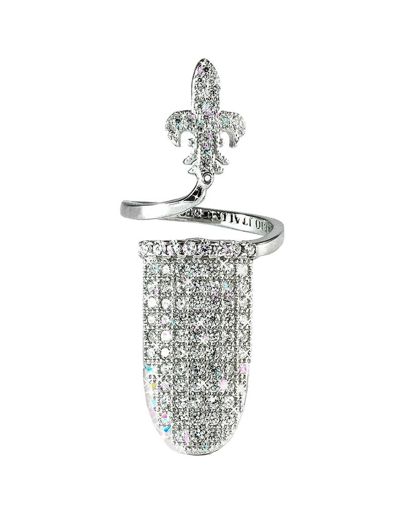 Δαχτυλίδι νυχιού ασημένιο 925 με ζιργκόν