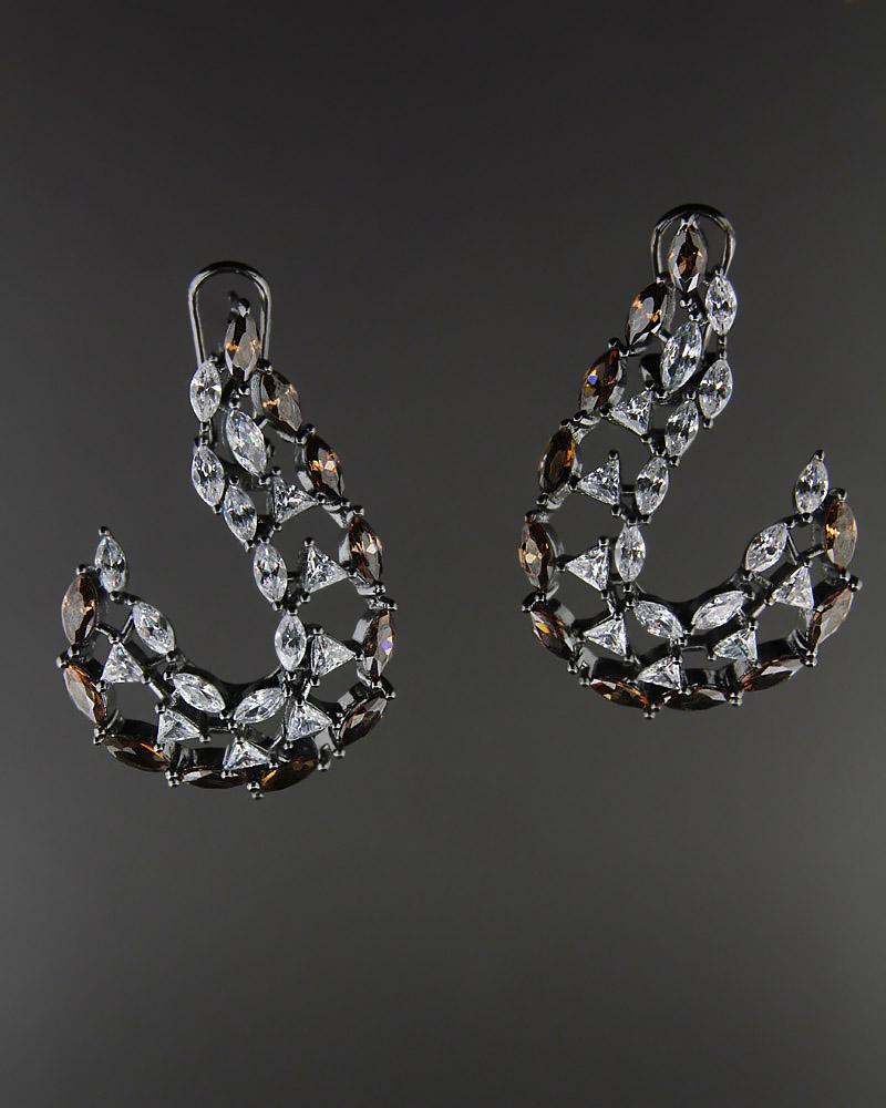 Σκουλαρίκια ασημένια με Ζιργκόν   γυναικα σκουλαρίκια σκουλαρίκια fashion