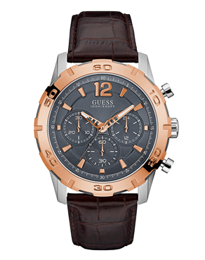 Ρολόι GUESS chronograph brown W0864G1