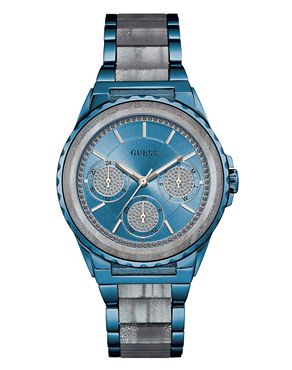 Ρολόι GUESS Multifunction Crystals Blue W0847L1