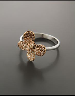 Δαχτυλίδι Λευκόχρυσο   Ροζ Χρυσό Κ14 με Ζιργκόν 34ae663ecbd