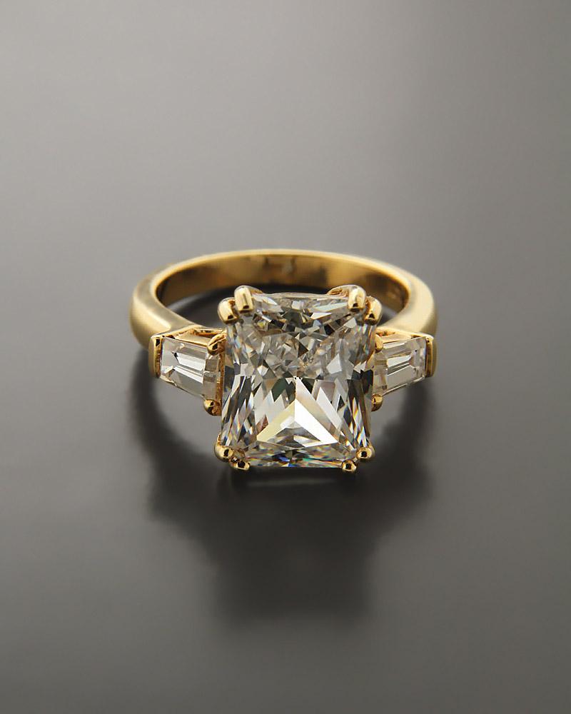 Δαχτυλίδι χρυσό Κ14 με Ζιργκόν   ζησε το μυθο μονόπετρα μονοπετρα με ζιργκόν