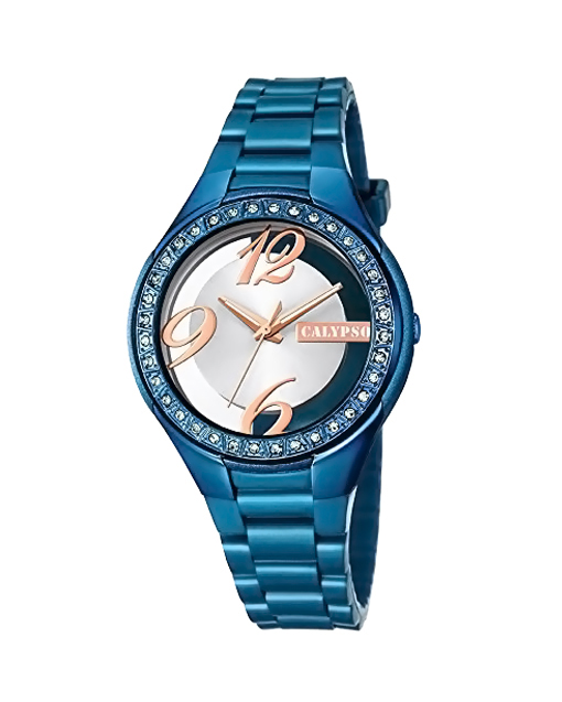 CALYPSO Crystals Blue Rubber Strap 5679-D   προσφορεσ ρολόγια ρολόγια έως 100ε