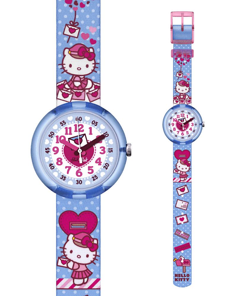 Ρολόι FLIK FLAK Hello Kitty Cute Mail ZFLNP024   ρολογια παιδικά ρολόγια