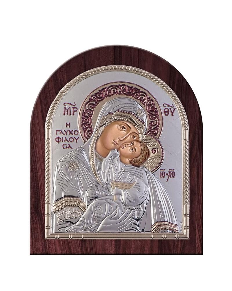 Εικόνα Παναγία Γλυκοφιλούσα, ξύλινη μπορντούρα 00206OBR1RWC   δωρα εικόνες