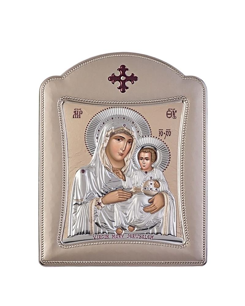 Εικόνα Παναγία Ιεροσολυμίτισσα, με στεφάνι 00107TBR2FWNSmo2C   δωρα εικόνες