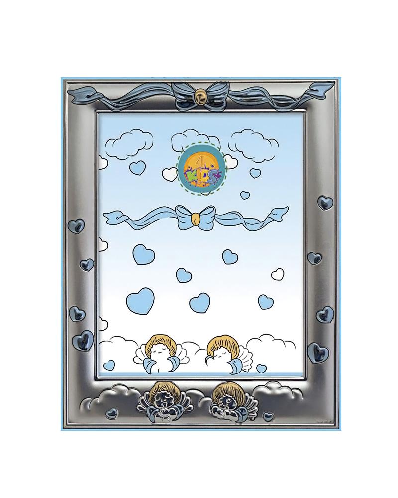 Παιδική κορνίζα αγγελάκια με φιόγκο 912 DK03660   δωρα παιδικές κορνίζες   άλμπουμ