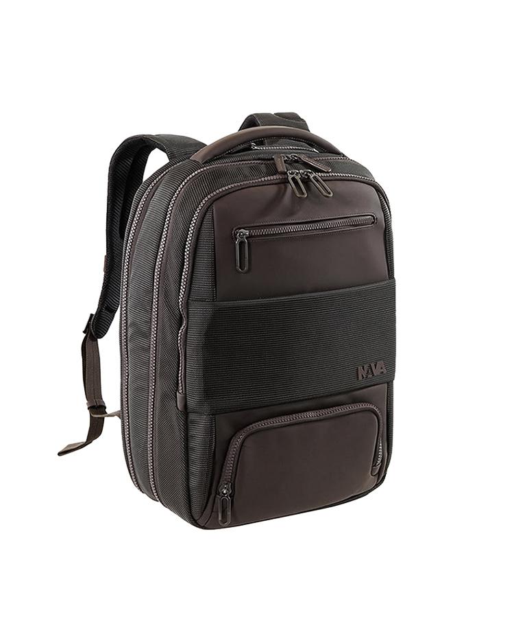 "Nava Τσάντα πλάτης Gate Passenger Laptop 17"", Bronze, GT077BZ   δωρα δερμάτινα είδη   αξεσουάρ"