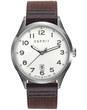 Ρολόι ESPRIT Brown Leather Strap ES109191001