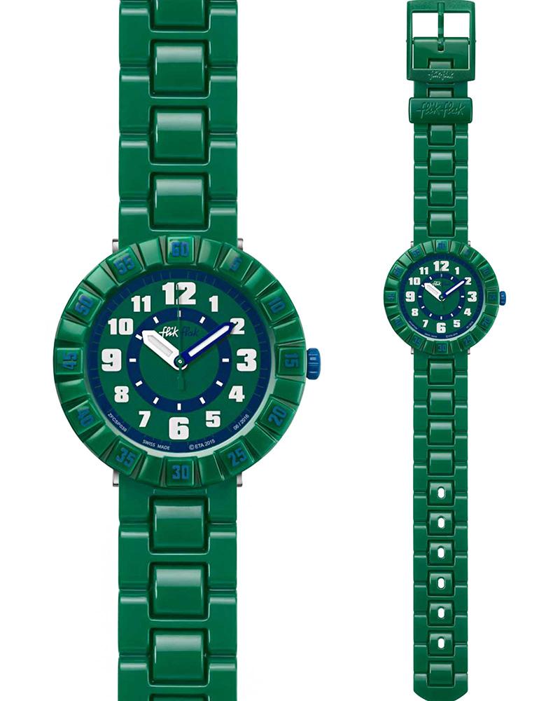 Ρολόι FLIK FLAK Seriously Green ZFCSP039   ρολογια παιδικά ρολόγια