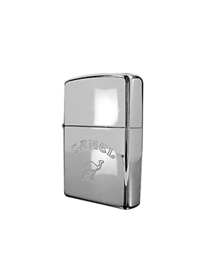 Zippo Αναπτήρας Camel Polished Chrome Engraved